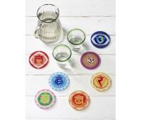Chakmonie® Glasuntersetzer Set