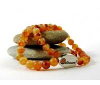 Silencer®-Kette mit 50 Perlen aus Karneol