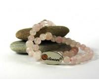 Silencer®-Kette mit 50 Perlen aus Rosenquarz
