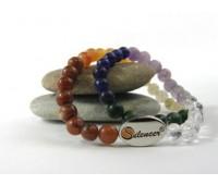 """Silencer®-Kette Chakra II  """"Sun, Moon, Stars """" mit 50 Perlen aus verschiedenen Chakra Steinen"""