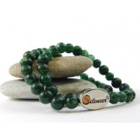 Silencer®-Kette mit 50 Perlen aus grünem Aventurin